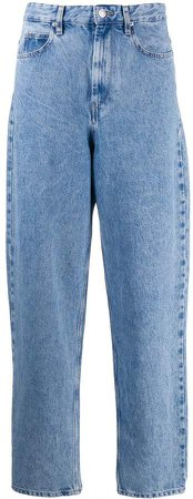 high waisted tapered jeans