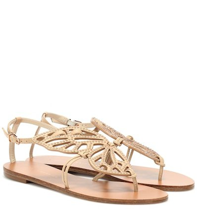 Bibi Butterfly leather sandals