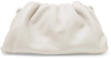The Pouch Mini Leather Clutch - Off-white