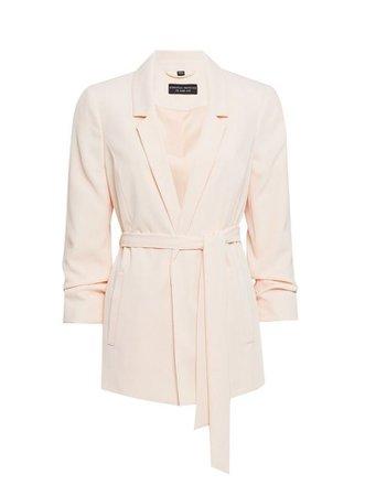 Blush Tie Waist Blazer Jacket | Dorothy Perkins
