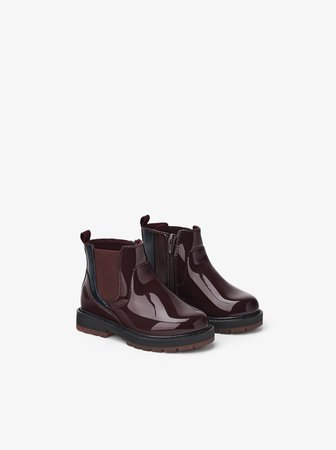 PATENT FINISH ANKLE BOOTS - View All-BABY GIRL-SHOES-KIDS | ZARA United Kingdom