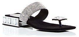 Women's Alise Crystal Embellished Low-Heel Sandals
