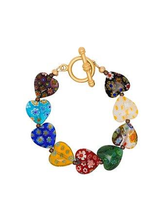 Brinker & Eliza Gold Tone And Multicoloured Higher Love Bracelet Ss20 | Farfetch.com