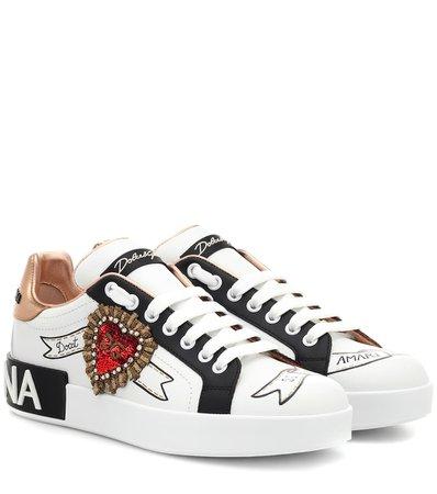Portofino Leather Sneakers - Dolce & Gabbana | mytheresa