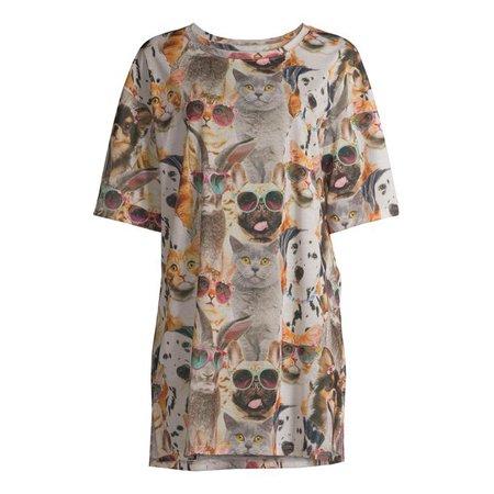 Secret Treasures - Secret Treasures Women's and Women's Plus Short Sleeve Sleepshirt - Walmart.com - Walmart.com brown