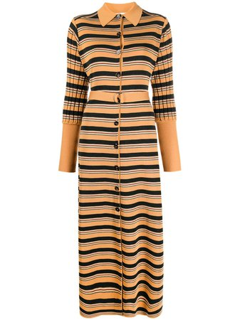 Chloé Knitted Striped Shirt Dress - Farfetch