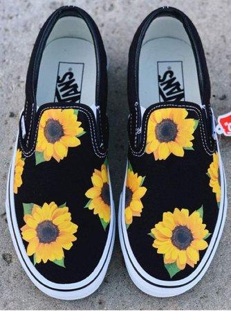 black sunflower vans