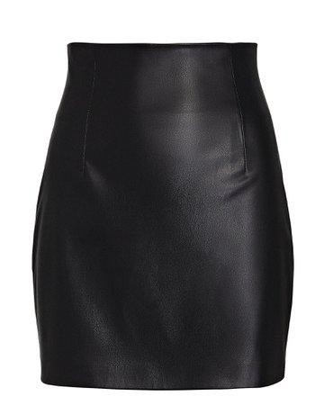 Gauge81 Umea Vegan Leather Mini Skirt | INTERMIX®