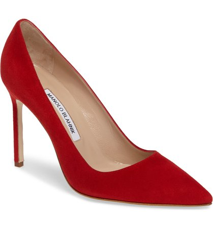 Manolo Blahnik 'BB' Pointy Toe Pump (Women) | Nordstrom