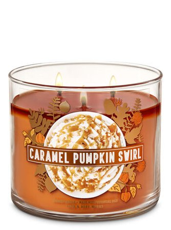 Caramel Pumpkin Swirl 3-Wick Candle | Bath & Body Works