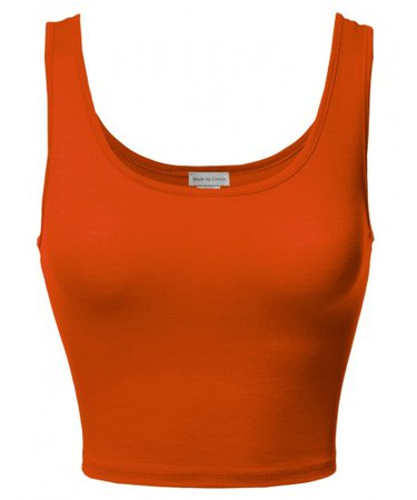 Women's Junior Sized Basic Solid Sleeveless Crop Tank Top - FashionOutfit.com