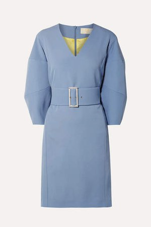 Belted Cady Dress - Blue