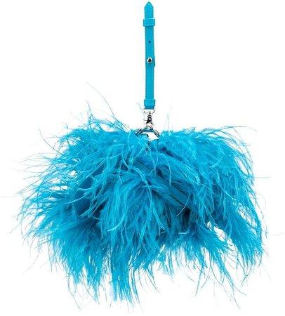 Marques'Almeida feathered clutch bag