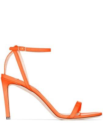 Jimmy Choo Minny 85Mm Sandals MINNY85NEP Orange   Farfetch