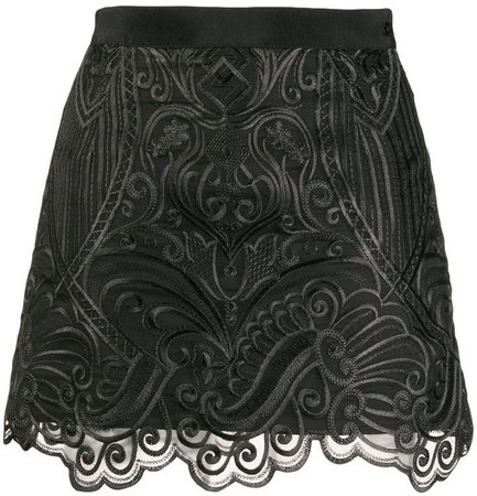 Wandering embroidered mini skirt