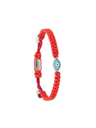 Red Nialaya Jewelry Evil Eye string bracelet - Farfetch