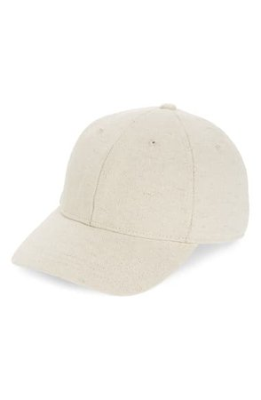 Madewell Cotton & Linen Baseball Cap | Nordstrom