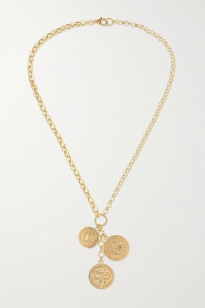 Gold Wholeness, Karma and Strength 18-karat gold diamond necklace | Foundrae | NET-A-PORTER