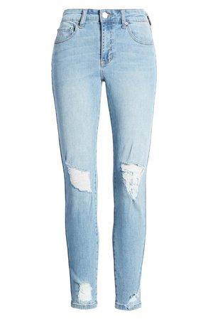 Prosperity Denim Ripped High Waist Crop Skinny Jeans (South Beach) | Nordstrom