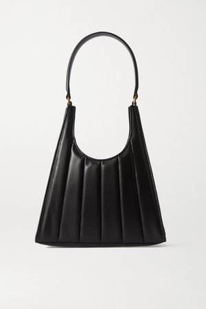 Rey Quilted Leather Tote - Black
