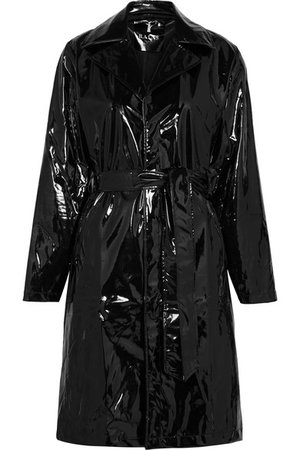 Rains | Glossed-PU trench coat | NET-A-PORTER.COM