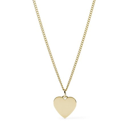 Heart Gold-Tone Stainless Steel Necklace - Fossil