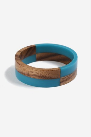 **Resin and Wooden Bangle - Jewellery - Bags & Accessories - Topshop