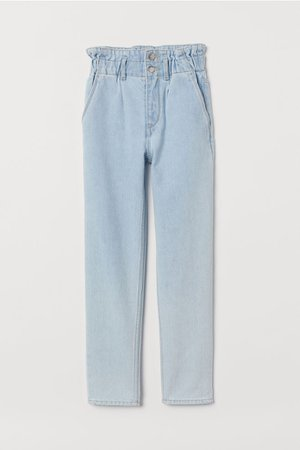 Relaxed Fit Ankle Jeans - Light denim blue - Kids   H&M US