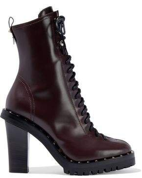 Garavani Studded Leather Ankle Boots