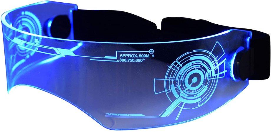 Amazon.com: ASVP Shop Fursuit Costume LED Visor Glasses Cyberpunk CyberGoth Goggles Cosplay Furries Furry (Blue): Clothing