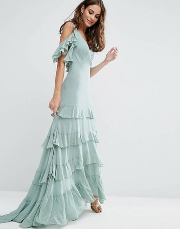 ASOS Ruffle Tiered Maxi Dress   ASOS