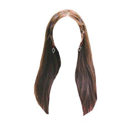 brown hair long png