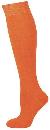 Orange Knee High Long Socks