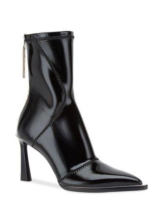 Fendi Fframe Structured Heel Ankle Boots | Farfetch.com