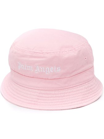 Palm Angels Embroidered Logo Bucket Hat - Farfetch
