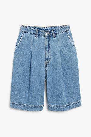 Denim shorts - Denim - Shorts - Monki WW