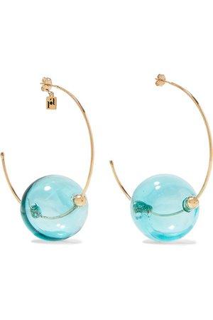 Rosantica | Bolle glass and gold-tone hoop earrings | NET-A-PORTER.COM