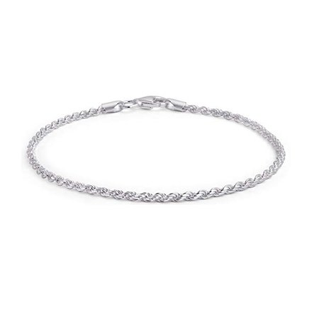 Amazon.com: Bling Jewelry Simple Plain Rope Chain Anklet Ankle Bracelet 925 Sterling Silver 50 Gauge Made in Italy 10 Inch: Ankle Bracelet: Clothing
