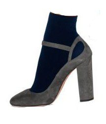 heel with navy sock