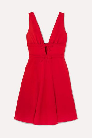 Bow-embellished Cady Dress - Red