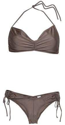 Ruched Printed Halterneck Bikini