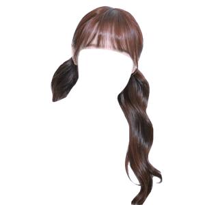 brown hair png bangs pigtails