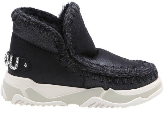 Sneakers Eskimo Trainer In Black Leather