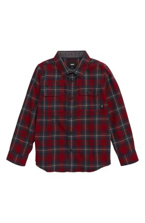 Vans Sycamore Plaid Flannel Shirt (Toddler Boys & Little Boys) | Nordstrom