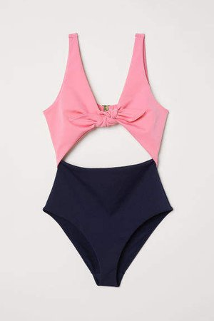 Cut-out Swimsuit - Pink