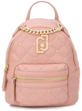 logo quilted backpack