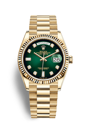Rolex Day-Date 36 Watch: 18 ct yellow gold - M128238-0069