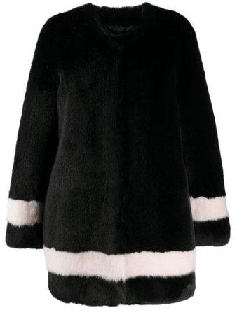 La Seine & Moi Petra Faux-Fur Striped Coat Aw20 | Farfetch.Com
