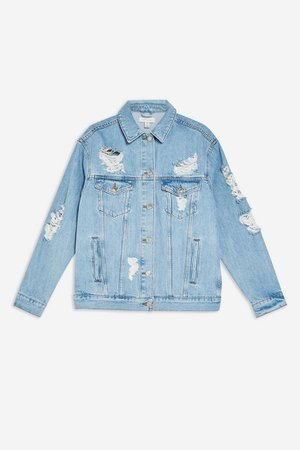 Ripped Denim Jacket | Topshop