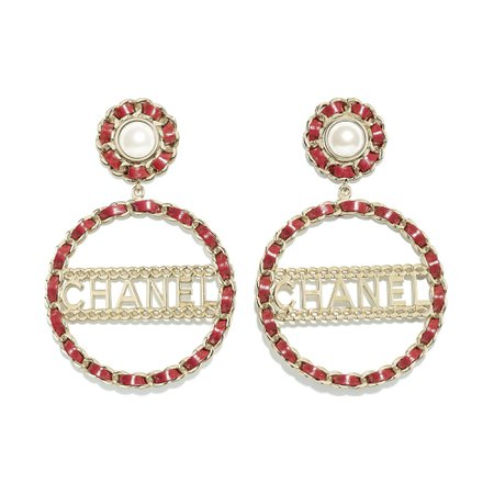 clip on chanel earring red